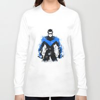 nightwing Long Sleeve T-shirts featuring Nightwing by fouur
