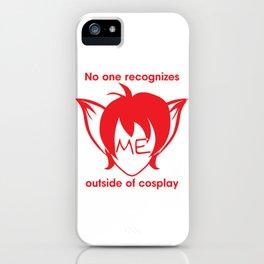 Recognize FOX- Red Print iPhone Case