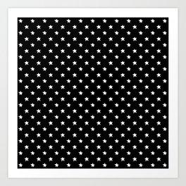 Polka Stars: Black and White Art Print