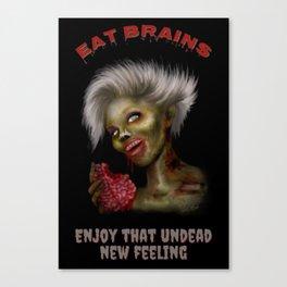 Eat Brains Canvas Print