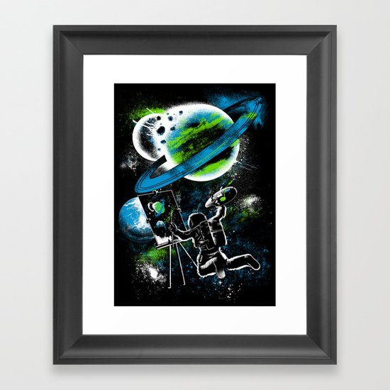 space Painting Framed Art Print