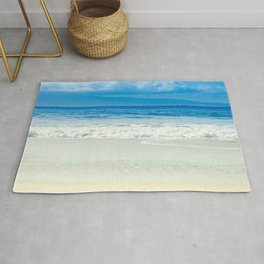 Beach Blue Kapalua Golden Sand Maui Hawaii Rug