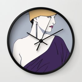 80's Girl (Patrick Nagel) Wall Clock