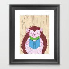 Grab a Book - Home Economics - Hedgehog Love Framed Art Print