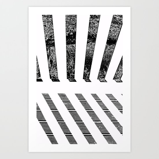 Parallel shadows inverted Art Print