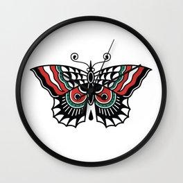 Butterfly Classic Tattoo Flash Wall Clock