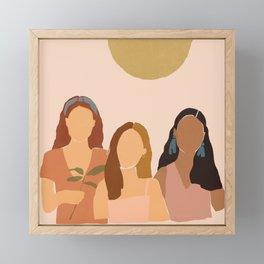 Trois Filles Framed Mini Art Print