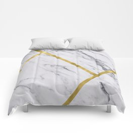 Golden classic marble Comforters