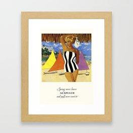 Acapuloco Travel Framed Art Print