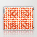 Red geometric floral leaves pattern in mid century modern style by retrohome