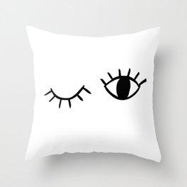 Wink Throw Pillow
