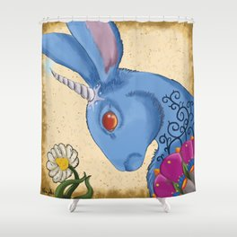 Unicorn Bun Shower Curtain