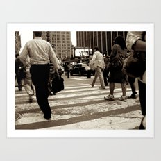 New York City _Rush hour Art Print