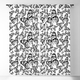Monarch Butterflies | Monarch Butterfly | Vintage Butterflies | Butterfly Patterns | Black and White Blackout Curtain