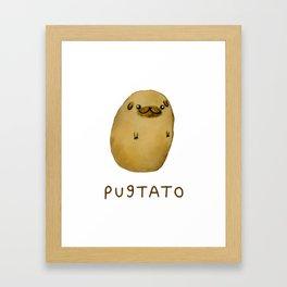 Pugtato Pugtato Framed Art Print