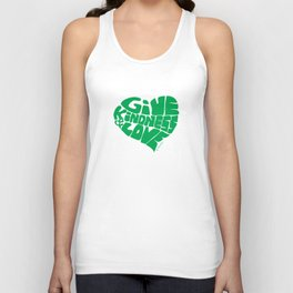 GIVE KINDNESS & LOVE - green Unisex Tank Top