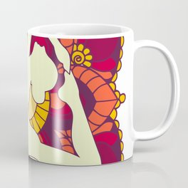 Women doing yoga mandala Coffee Mug