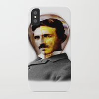 tesla iPhone & iPod Cases featuring Tesla by EclipseLio