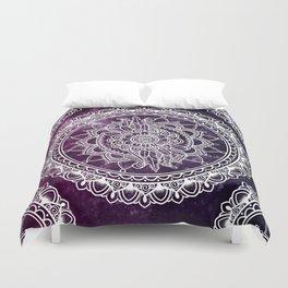 Violet Flower Mandala Duvet Cover
