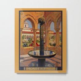 Palermo Monreale vintage 1920s Italian travel ad Metal Print