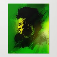 neymar Canvas Prints featuring Neymar J.r by drasik
