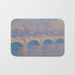 """Claude Monet """"Waterloo bridge"""" Bath Mat"""