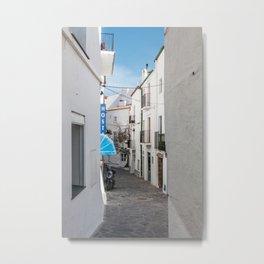 Hostel in Blue - Cadaques, Catalunya Metal Print