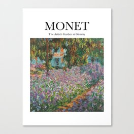Monet - The Artist's Garden at Giverny Canvas Print