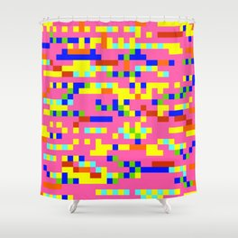 Pink Candy Camouflage Shower Curtain