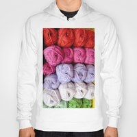 knitting Hoodies featuring Knitting Yarn by Rosie Brown