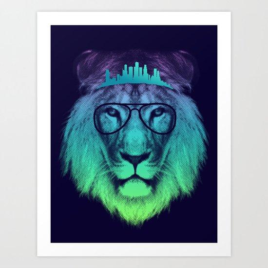 Kingdom Of The Lion (Colour Version) Art Print