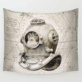 scuba diving Wall Tapestry
