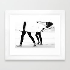 catch a wave Framed Art Print