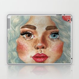 'Girl With Flower Crown' Laptop & iPad Skin