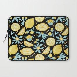 Lemon Pattern Black Laptop Sleeve