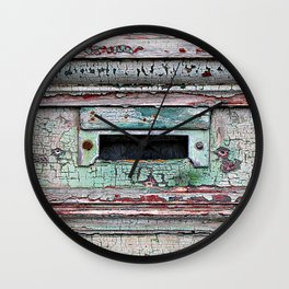 Mail Slot Wall Clock
