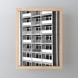 Balcony facade Framed Mini Art Print