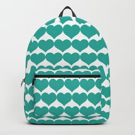 Mint heart pattern Backpack
