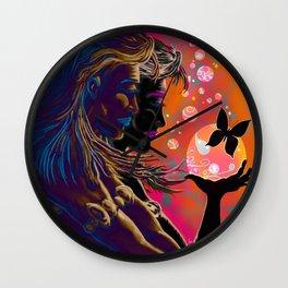 """""""Gossamer & Lotus Dream"""" Wall Clock"""