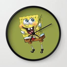 Spongebob Happy Wall Clock