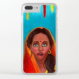 Holi Festival of Colors - Indian Girl Clear iPhone Case