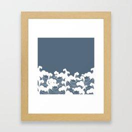 Blue Japanesse Wave Framed Art Print
