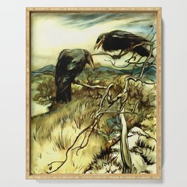 The Two Crows Serving Tray