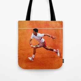 Novak Djokovic Running Tote Bag