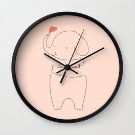 Love Yourself Ele 2 Wall Clock