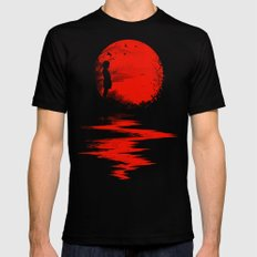 The Land of the Rising Sun Black Mens Fitted Tee MEDIUM
