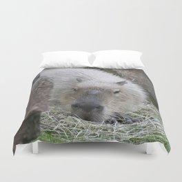 adorable capybara Duvet Cover