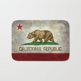 California Republic state flag Vintage Bath Mat