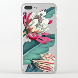 Flowering cactus IV Clear iPhone Case