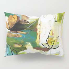 """""""Rise Above"""" Original Painting by Flora Bowley Pillow Sham"""
